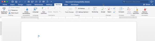 Review toolbar